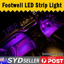 2x Purple LED Strip Light For Cars Ute Motor Footwell Under Dash Interior 30cm
