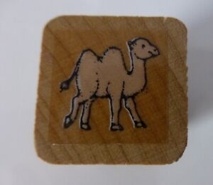 Camel Wood Mounted Rubber Stamp