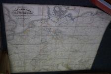 Carl Jugel's Post- und Reise Karte 1843 DEUTSCHLAND U.Hendschel Hand Coloriert