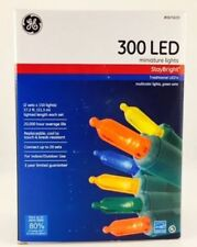 New In Box! Ge StayBright 300-Count Color Mini Led Christmas String Lights
