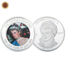 WR 1961-1997 Diana Princess Of Wales Coloured Silver Medal Coin Gift Collectible