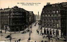 CPA PARIS 2e-Carrefour Rue de la Paix et Avenue de l'Opéra (322009)