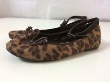 Next Girls Animal Print Faux Fur Ballet Pumps Size 11