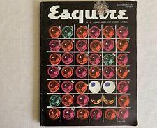 ESQUIRE Magazine Vintage Dec 1955 Cover - Holiday Ornaments