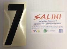 Numero Numeri adesivi gara moto cross SETTE Nero - 10 cm