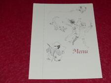 Menu/Illustration Toulouse Lautrec Lovely Reprint Années 60 18x 24 (8)