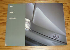Original 1989 Honda Full Line Sales Brochure 89 Accord Civic Prelude CRX