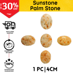 Sunstone Palm Stone Thumb Worry Stone 4cm | Chakra Reiki Healing Therapy