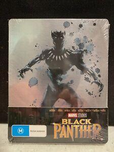 Marvel MCU BLACK PANTHER Blu Ray Steelbook Chadwick Boseman New & Sealed