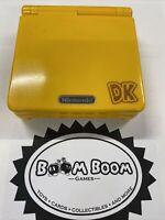 "RARE Nintendo Gameboy Advance SP Limited Donkey Kong US seller! ""Banana Flavor"""