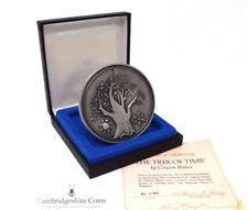 More details for 1973 silver franklin mint tree of time medal coa box rare 293 grams rare