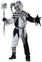 Nobody's Fool Evil Jester Clown Joker Halloween Mens Costume