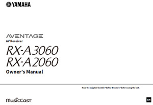 Yamaha RX-A3060 RX-A2060 AV Receiver Owners User Operating Instruction Manual