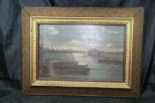 peinture tableau huile sur bois double face signé d'un coté 1887
