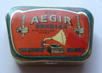 AEGIR NEEDLES - rare needle tin Phonograph Grammophon Nadeldosen !