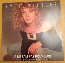 """KYLIE MINOGUE - Je Ne Sais Pas Pourquoi - 1988 Vinyl 7"""" Single"""