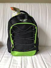 Adventuridge School Backpack Neon Green Black With Adjust Straps Light