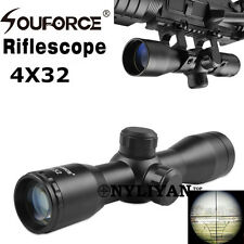 Compact 4X32 Rangfinder Reticle Optic Scope Sight&20mm rail Mount for Rifle Hunt