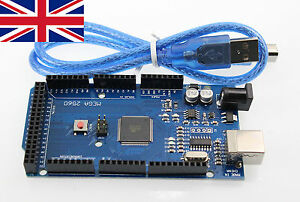 Arduino Compatible ATEMEGA Mega2560-16AU R3 CH340g Module Free USB Cable from UK