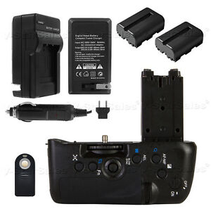 Battery Grip for Sony A77 A77II A99II+ 2x FM500H Battery + Charger +Remote