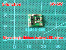 DC3V-5V 1.2A Battery Li-ion Micro Mini Laser Tube LED Driver Dimming Strobe 3-5W