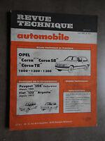 REVUE TECHNIQUE AUTOMOBILE RTA OPEL CORSA PEUGEOT 504 FIAT 132 ARGENTA 1983