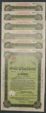 Bayerische Vereinsbank Gold-Pfandbrief Ser. 19 7 % 1931 6 versch. Ausgaben