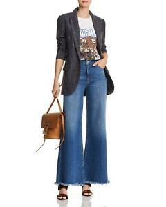 "Brand New FRAME Le Palazzo Raw Edge High Waist Wide Leg Jeans Inside Leg 33.5"""