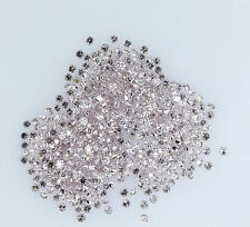 Natural Loose Diamond Round Shape Pink Color SI1 1.00 to 1.10 MM 25 Pcs Lot Q28