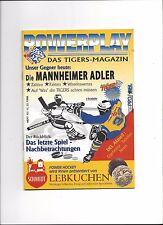 DEL Programm: NÜRNBERG ICE TIGERS - MANNHEIM ADLER 11.12.1998, Saison 98/99
