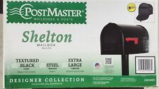 "Postmaster SHELTON Black Metal Steel Mailbox Extra Large 20"" x 11.75"" x 11.625"""