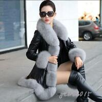Mode Damenmode Mantel Jacken Pelzmantel Gr.XS-4XL Winter Bankett Mode