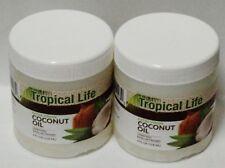 2 TROPICAL LIFE Extra Virgin COCONUT OIL Unrefined 4 fl oz (118ml) Each Sealed