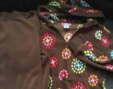 Lot Gymboree Girl Hoodie Sweatshirt Lounge Set Pants Brown Floral Large L 10 12