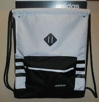 Adidas Classic 3S Sackpack Drawstring Bag Black White 5145408 Boys Girls New