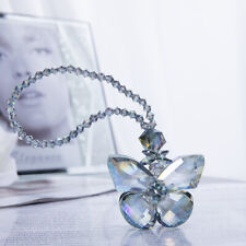 Clear Cut Glass Crystal Suncatcher Butterfly Car Hanging Pendant Window Decor