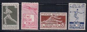 Turkey   1940   Sc # 855-58   Balcan Olympic   VLH   OG   (53099)