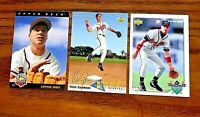 1992 - 1993 Upper Deck Chiper Jones #24, #66, and #459 - Braves