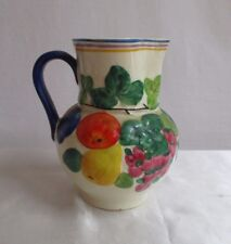 Vtg Ditmar Urbach Art Pottery Pitcher Vase Jug Hand Painted Czechoslovakia 8""