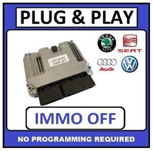 * PLUG & PLAY *SKODA OCTAVIA 1.9 TDI Engine ECU IMMO OFF  0281014711 03G906021TB