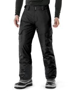 TSLA Men's Winter Snow Pants, Insulated Ski Pants, Windproof Snowboard Bottoms