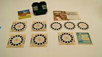 Vintage View Master Viewer and Reels Lot - Lassie & Timmy Cisco Kid Hawaii +more
