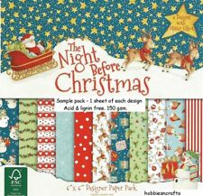 DOVECRAFT THE NIGHT BEFORE CHRISTMAS 6 X 6 SAMPLE PACK - READ FULL DESCRIPTION