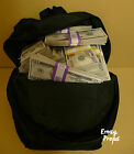 PROP MONEY NEW STYLE $200,000 BOOK BAG PACKAGE for Movie, TV, Videos Pranks