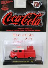 1959 Coca- Cola-Volkswagen Double Cab Truck M2 MACHINE Red and White NEW 1/64