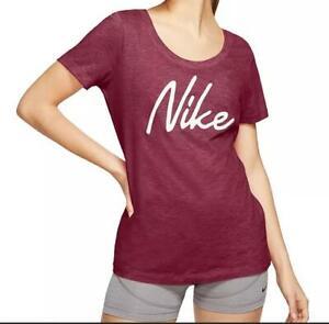 Nike Women's Dri-fit Script-Logo Training T-Shirt, Red, Size XL, $25, NwT
