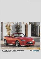 "MAZDA MX5 ORIGINAL PRESS PHOTO "" BROCHURE  RELATED""  ISSUED 07-2005"
