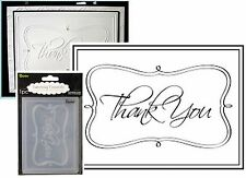 THANK YOU Embossing Folders DARICE 1215-46 Words Cuttlebug Compatible folder