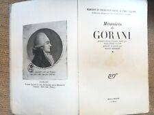 1944, HISTOIRE REVOLUTION Mémoires de GORANI, par A. CASATI- 4581