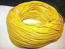 10M  YELLOW GENUINE LEATHER CORD 2mm
